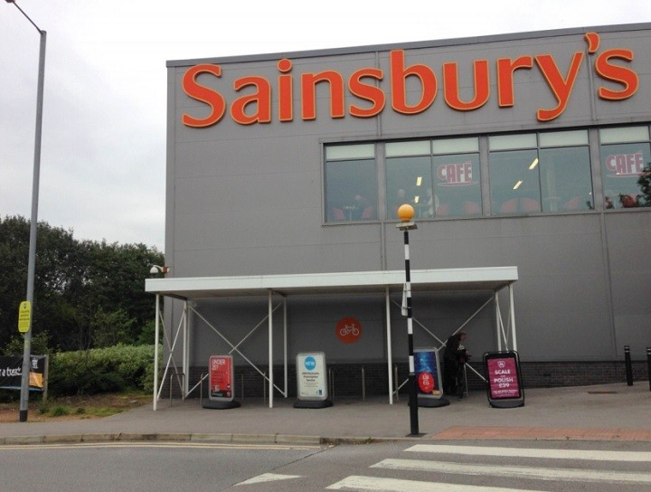 The area of Sainsbury's where the new gym is proposed