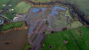 The solar farm as seen from above Pic: Stephen Melling