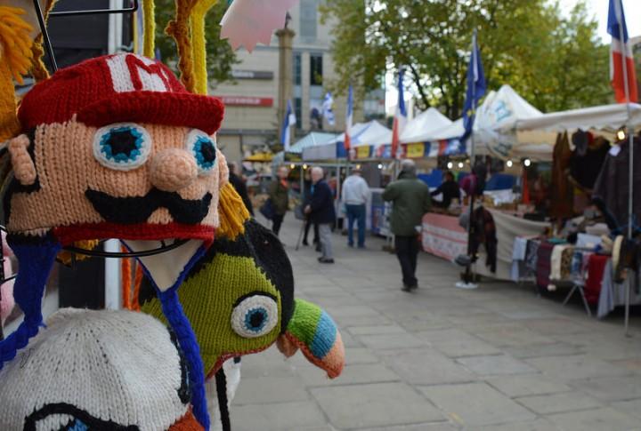 Knitwear at a Preston Market stall Pic: Tony Worrall
