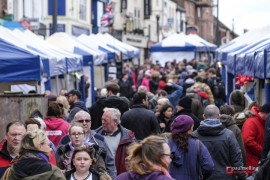 In the midst of the market in Friargate Pic: Paul Melling