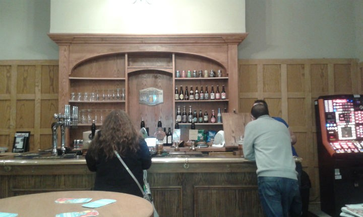 View of the bar in the Ale House