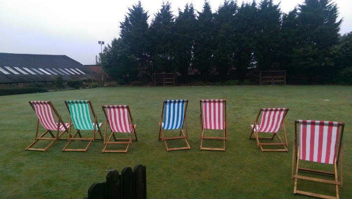 The former bowls lawn in the Plungington Hotel's back garden