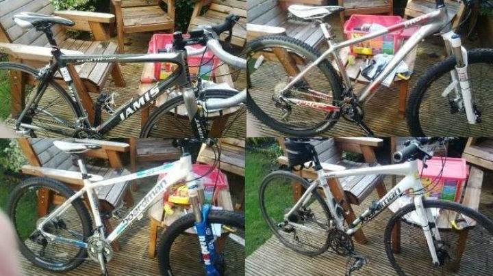 Some of the bikes taken