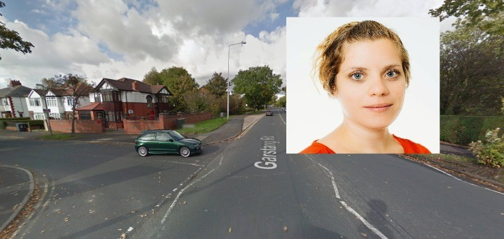 Shirah, and the spot on Garstang Road where she came off her bike