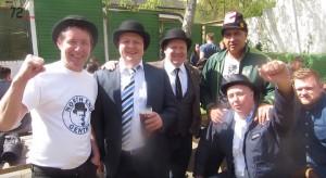 PNE fans enjoying a Gentry Day in Brentford in 2014