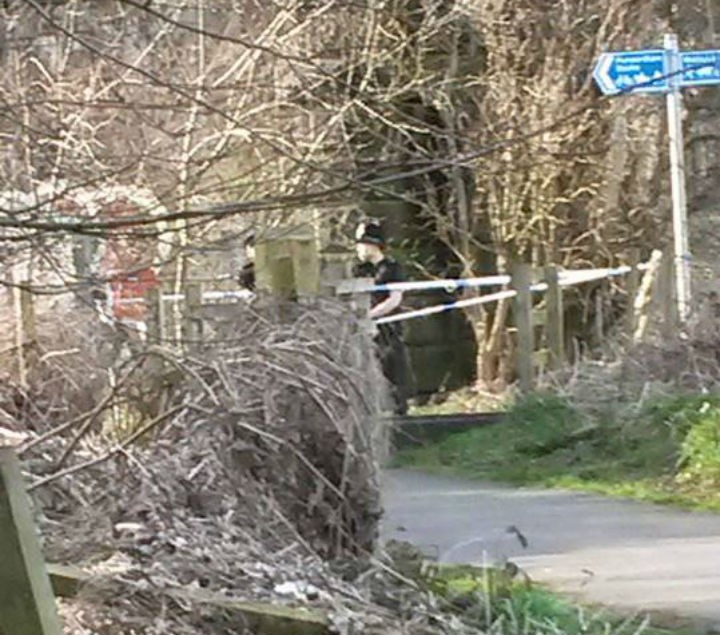 Police cordon in place Pic: Jane Mowbray