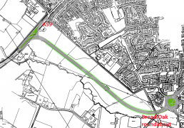 The amended route for the Penwortham Bypass