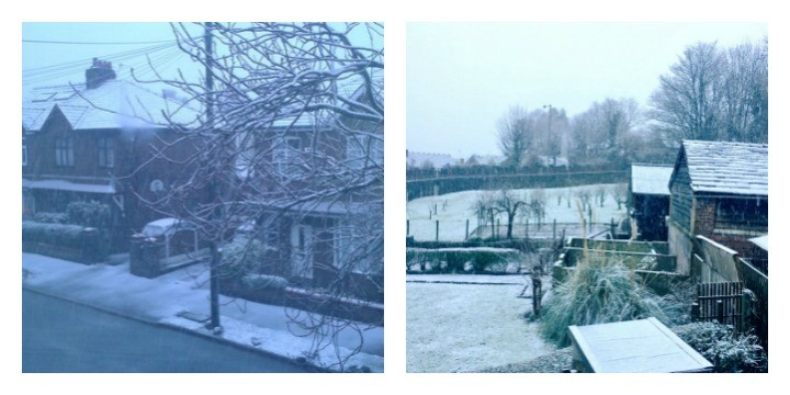 Snow in Fulwood and in Penwortham. Second pic: Louise Hogg