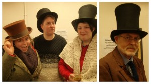 Students at launch event for history project and right, UCLan Honorary Fellow Russell Hogarth