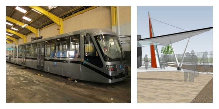 Preston tram test line and station is actually happening ...