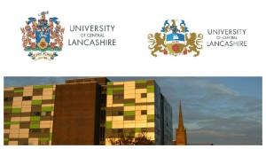 The two new coat of arms logos which may be seen around the UCLan campus