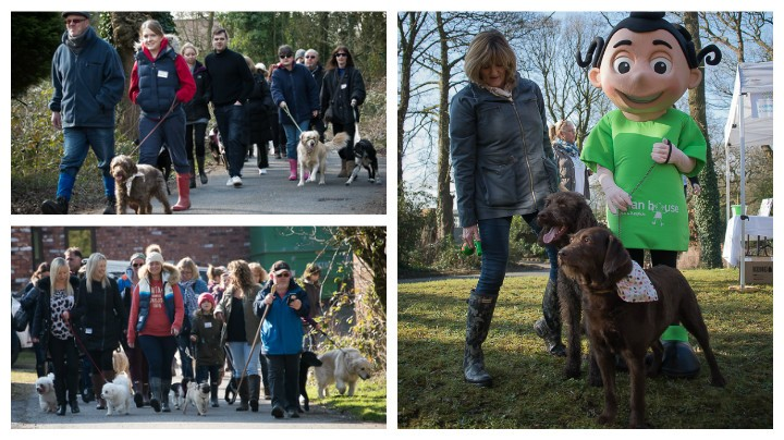 Dogs and owners on the sponsored walk Pics: Martin Coupe/MuckyPaws