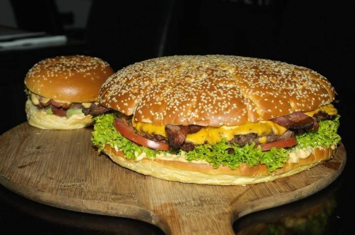 The 'Manchester Wheel' burger