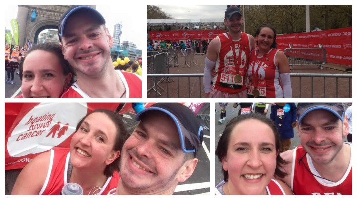Ben and Louise Ashworth doing the Marathon