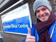 Ben Ashworth is staying positive despite the latest news on his bowel cancer