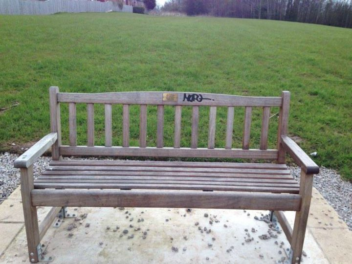 The bench was unveiled in July 2015