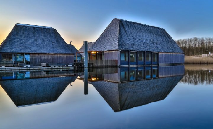 The floating Visitor Village at Brockholes Pic: Sonia Bashir
