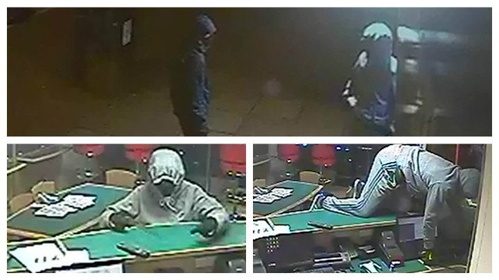 CCTV pictures show the raid in progress in Ingol