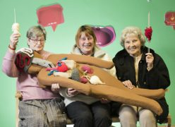 Enid Bosworth, Pat Morris and Olive Appleby with their handiwork