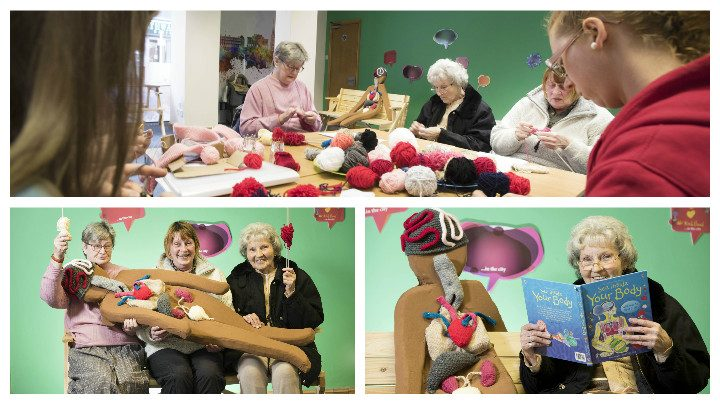 The knitting sessions run twice a week in UCLan's city centre shop