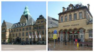 Recklinghausen's main hall and Preston Station