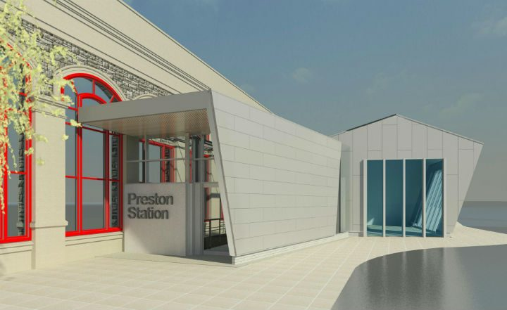 How the new entrance to Preston Station may look