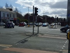 Queues on Strand Road on Saturday morning Pic: Katy Jane Nicholson