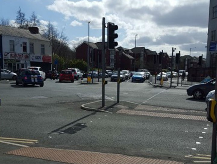 Queues on Strand Road on Saturday morning Pic: Katy Jane Nicholson