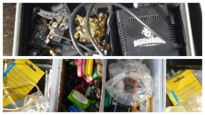 Some of the tattoo kit recovered when environmental health entered the premises