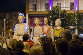 Part of the Guild 2012 torchlight procession Pic: Ruthie H
