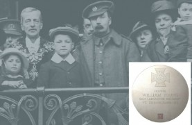 Private William Young and his family on his return to Preston in 1916