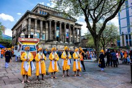 Preston's Sikh community on the Flag Market in 2014 Pic: Billy Matthews