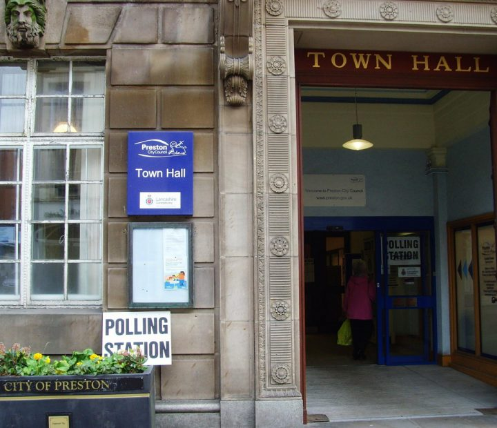 Town Hall polling station Pic: Tony Worrall