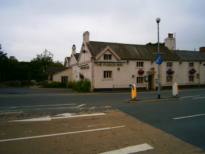The Fleece Inn was targeted by a gunman Pic: Stephen Ward