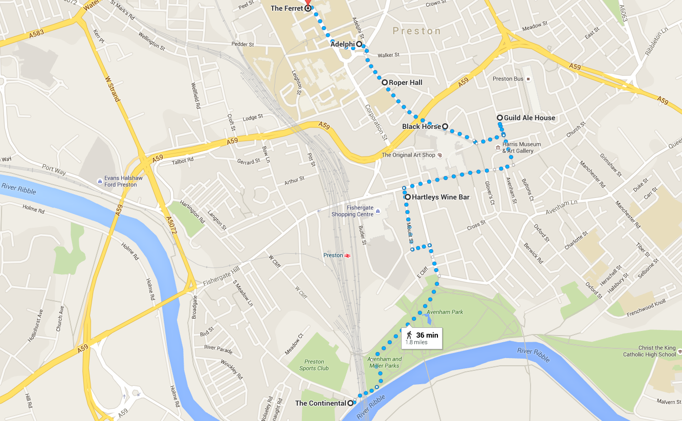Our recommended route - a little bit of walking but you can handle it!