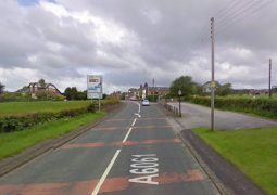The A6061 where the collision happened Pic: Google