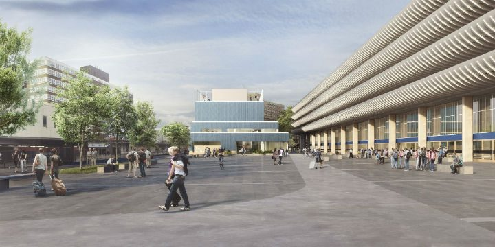 A new view of the Youth Zone standing to one side of the Bus Station