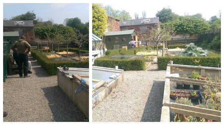 The walled garden in Ashton Park