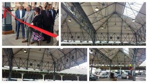 Preston's restored Fish Market canopy has a new coat of paint and structural repairs, it was formally reopened on Friday
