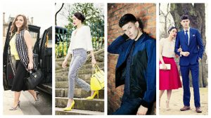 Some of the fashion looks created by UCLan students