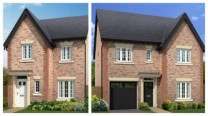 Two types of home being built at Fulwood Green