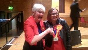 Leader of Lancashire County Council Jennifer Mein with Jade Marie Morgan