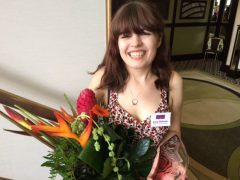 Jenny was given the award at a ceremony in Manchester Pic: BBC Manchester