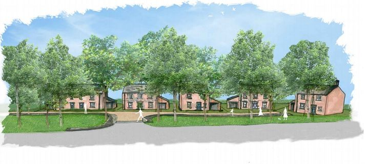 An artist's sketch of how the new homes may look