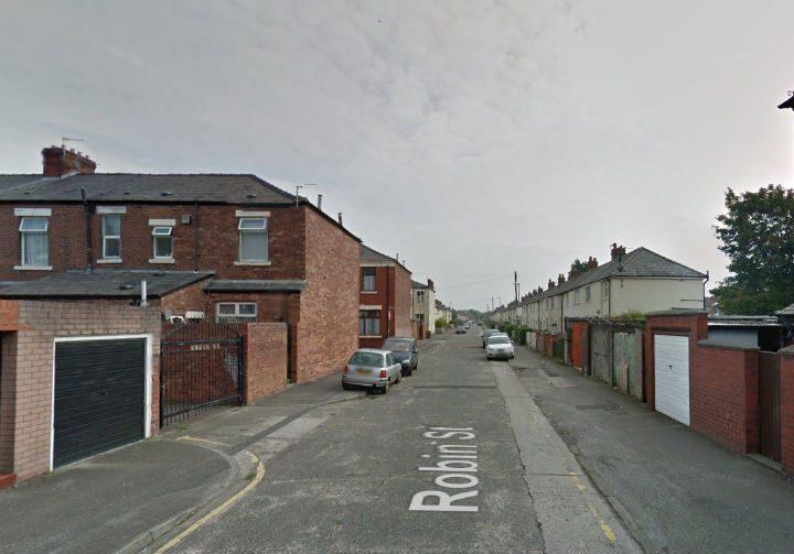 Robin Street in Ribbleton where the motorbike was found