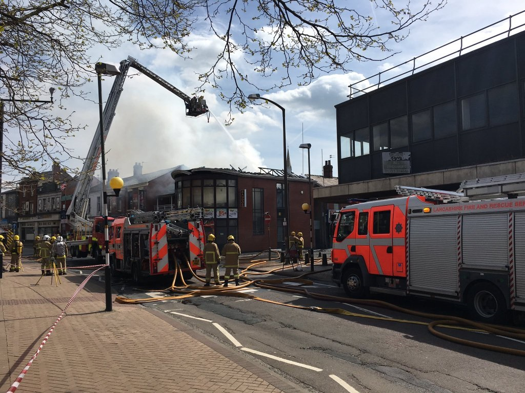 Fire at Sandos. Credit: Benjamin Wareing
