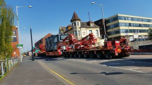 The transformer convoy making its way up Corporation Street Pic: Andy Speariett