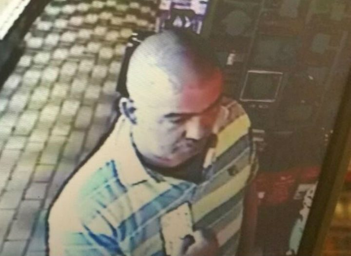 Police would like to speak to this man following the incident in Waldon Street