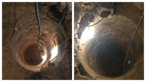 Don't look down! The well pre-dates the Plough Inn which is being converted into Plau gin bar