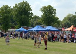 Ashton Park saw the sun beat down as families turned out to enjoy The Big Lunch Pic: Tony Worrall